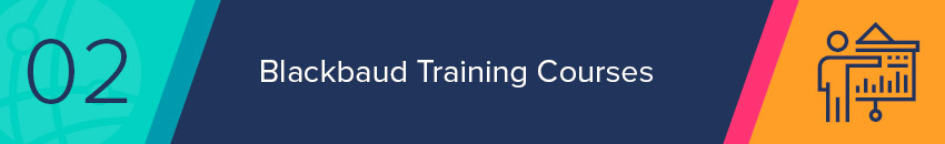 Blackbaud offers specialized Blackbaud training in all of their products.