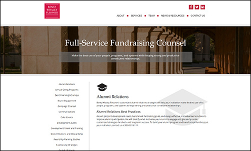Bentz Whaley Flessner can help your institution raise more through alumni engagement.